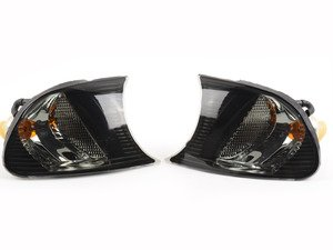 ES#2808244 - 4441512PXAES - Crystal Smoke Corner Assembly - Pair - Direct replacements for the stock amber corner lights - Depo - BMW