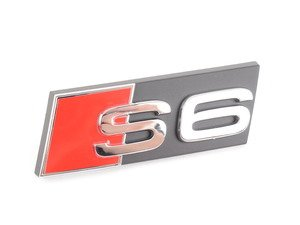 "ES#2158183 - 4F0853736F2ZZ - ""S6"" Grille Emblem - Factory emblem for lost pieces. - Genuine Volkswagen Audi - Audi"