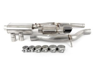 "ES#3478074 - 14539blkKT - RSC Cat-Back Exhaust System - 3"" Stainless steel with Twin 3"" Black tips - Corsa - Audi"