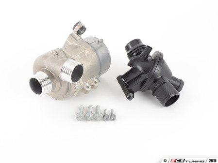 ES#2960474 - 11517604027KT - Water Pump And Thermostat Kit - Includes everything you need to replace your water pump and thermostat - Assembled By ECS - BMW