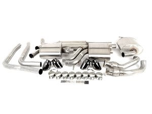 "ES#3478069 - 14543blkKT - RSC Cat-Back Exhaust System - 2.5"" Stainless steel with quad 3.5"" black tips - Corsa - Audi"
