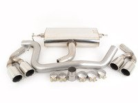 """ES#2827320 - SSXAU144 - Cat-Back Exhaust System - Resonated - 2.75"""" stainless steel with quad 90mm polished tips - Milltek Sport - Audi"""