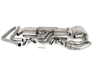 """ES#3478063 - 14543KT - RSC Cat-Back Exhaust System - 2.5"""" Stainless steel with quad 3.5"""" polished tips - Corsa - Audi"""