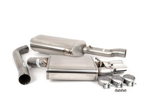 """ES#3478075 - 14532KT - RSC Cat-Back Exhaust System - Single Exit - 3"""" Stainless steel with Single exit Twin 3"""" Polished tips - Corsa - Audi"""