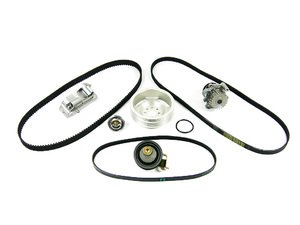 ES#6452 - AUGTBKV2Wslv - ECS Tuning Ultimate 1.8T Timing Belt Kit- AUG Engine Code Only With Silver ECS Crank Pulley - ECS popular ultimate timing belt kit with a ECS lightweight crank pulley. Buy together & save - Assembled By ECS -