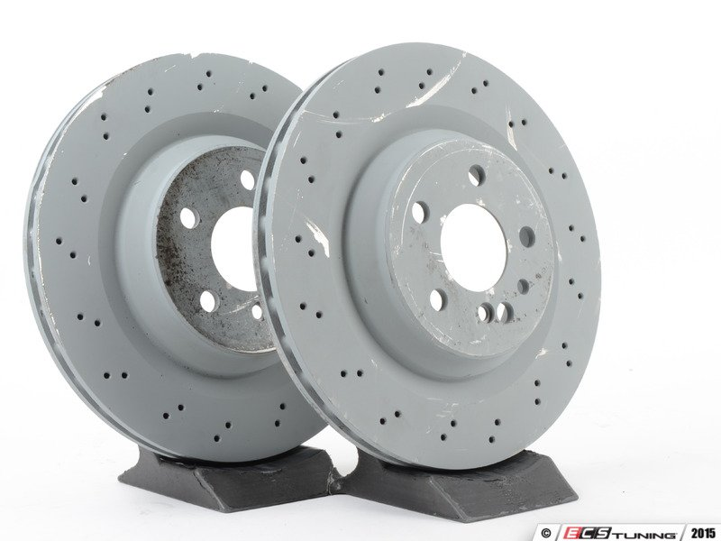 Genuine mercedes benz 2204230912kt1 rear brake rotors for Mercedes benz rotors