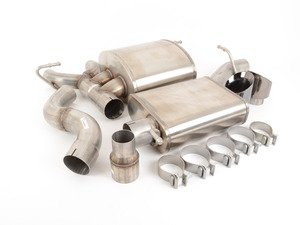 "ES#3478066 - 14496BLKKT - RSC Cat-Back Exhaust System - 3"" Stainless Steel with twin 4"" black tips - Corsa - Volkswagen"