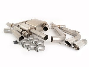 "ES#3478052 - 14834KT - RSC Cat-Back Exhaust System - 3"" Stainless Steel with dual 4"" polished tips - Corsa - Volkswagen"
