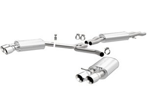 """ES#2093800 - 15599 - Cat-Back Exhaust - 2.25"""" stainless steel with dual 3.5"""" polished stainless tips - Magnaflow - Audi"""