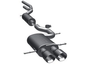 "ES#2613791 - 16769 - Cat-Back Exhaust System - 2.5"" stainless steel with dual 3.5"" polished stainless tips - Magnaflow - Audi"