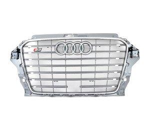 ES#2806223 - 8V5853651E1RR - S3 Grille Assembly - Platinum Grey - Clean up or change your look - Genuine Volkswagen Audi - Audi