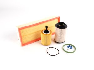 ES#11206 - MK5FILTERPACK3ev - MANN Filter Maintenance Kit - 3 Piece - Includes German Air, Fuel & Oil filters. - Assembled By ECS - Volkswagen