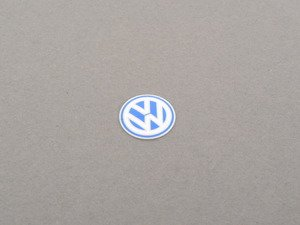 ES#248801 - 3B083789109Z - VW Sign For Key Fob - Stick on emblem for your key fob or other locations of your choosing - Genuine Volkswagen Audi - Volkswagen