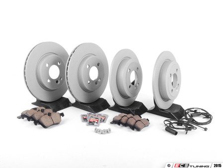 ES#2587597 - 34116774984KT11 - Front & Rear Brake Service Kit - Featuring Zimmerman rotors and Akebono pads - Assembled By ECS - MINI