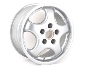 """ES#1466604 - 96536212601 - Rear Cup Design 92 Winter Wheel - Priced Each - 17"""" X 8"""", 52 offset - Genuine Porsche - Porsche"""