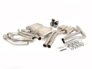 "ES#3478057 - 14544blkktKT - RSC Cat-Back Exhaust System - 2.5"" Stainless steel with quad 3.5"" black tips - Corsa - Audi"