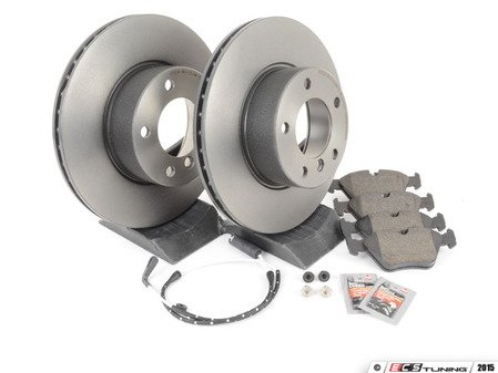 ES#240370 - ECSE393411-1 - Front Brake Service Kit - Featuring Brembo Rotors and Pagid Pads - Assembled By ECS - BMW