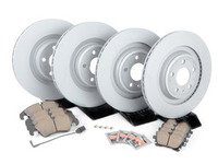 ES#2597361 - 8K0698301MKT1 -  Front & Rear Premuim Brake Service Kit - Featuring Zimmerman rotors and Akebono Euro Ceramic pads - Assembled By ECS - Audi