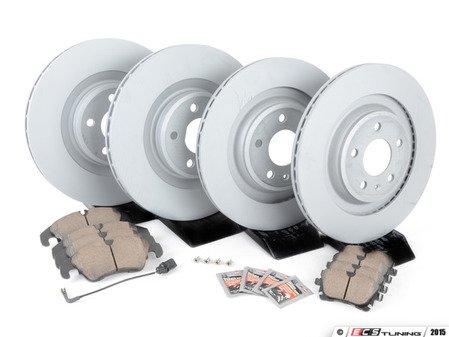 ES#2597361 - 8K0698301MKT1 -  Front & Rear Premuim Brake Service Kit - Featuring Zimmerman rotors and Akebono Euro Ceramic pads - Assembled By ECS - Audi