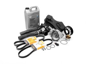 ES#2707752 - 17127510952KT9 - Cooling System Refresh Kit - Level 2 - A more advanced kit that includes belt service components and a ECS aluminum pulley - featuring high quality aftermarket contents - Assembled By ECS - BMW