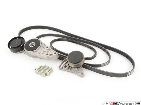 ES#2581735 - 058903133DMTCKT1 -  Accessory Belt Kit W/ Tensioners - Keep your accessories running properly with new tensioners and drive belts - Assembled By ECS - Audi