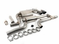 "ES#3478047 - 14834blkKT - RSC Cat-Back Exhaust System - 3"" Stainless Steel with dual 4"" black tips - Corsa - Volkswagen"