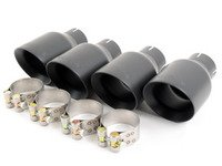 ES#2960906 - MSVW372 - GT100 Quad Exhaust black Cerakote Tips - 100mm GT style exhaust tips for the left and right side of the vehicle - Milltek Sport - Audi