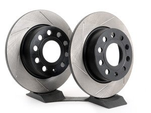 ES#2859269 - 12633135SRKT - Rear Slotted Sport Brake Rotors - Pair (253x10) - Increase stopping performance and visual appearance - StopTech - Audi Volkswagen