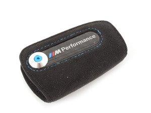 ES#2971218 - 82292355518 - M Performance Key Fob Case  - Black alcantara case with carbon fiber inlay with M Performance - Genuine BMW M Performance - BMW