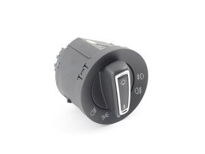 ES#2855250 - 5gm941431c - Standard European Headlight Switch - Chrome Trim - Adds parking lights with front fogs as well as rear fog option - Bremmen Parts - Volkswagen