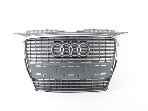 ES#459235 - 8P4853651A1QP - Grille Assembly - Grey - Direct bolt on all black grille for your A3 - Genuine Volkswagen Audi - Audi