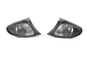ES#2808236 - 4441511PXUE2 - Clear w/ black housing Corner Assembly - Pair - Direct replacements for the stock amber corner lights - Depo - BMW