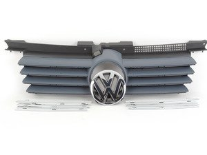 ES#313267 - 1J5853651LGRU - Grille Assembly - Primed With Chrome Trim - Complete grille assembly from 2004-2005 models, including VW emblem - Genuine Volkswagen Audi - Volkswagen