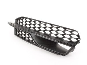 ES#2741247 - 8V3807682LBMT - Lower Bumper Grille - Satin/Gloss Black - Right - Keep your exterior looking clean - Genuine Volkswagen Audi - Audi