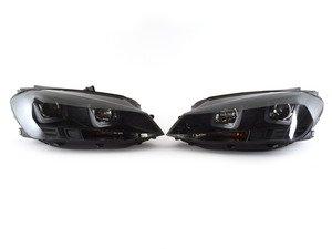ES#2966523 - 83027 - Projector Headlight Set - Blackout - With dual LED light bars - JOM - Volkswagen