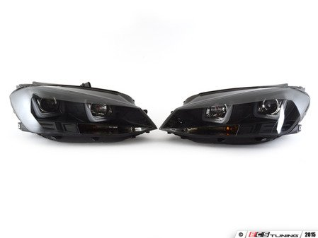 ES#2966523 - 83027 - Projector Headlight Set - Blackout - With dual LED light bars - JOM - Volkswagen