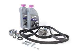 ES#1876845 - 06F198002B7 - Timing Belt Kit - Ultimate Plus  - Includes coolant, belts, waterpump, rollers & tensioner, and DIY install PDF - Assembled By ECS - Audi