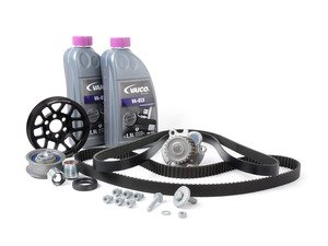 ES#2581229 - 06F198003B7 - Ultimate Plus Timing Belt Kit - Black Pulley - Get the best timing belt kit with the added benefits of the Quick-Spool under drive pulley - Assembled By ECS - Audi