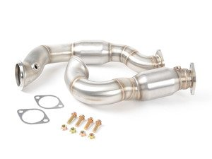 ES#2784387 - 5B1202 - Stainless Steel High-Flow Catted Downpipes - High-Flow Catted downpipes to unleash the untapped potential of your N54 powered BMW - CobbTuning - BMW
