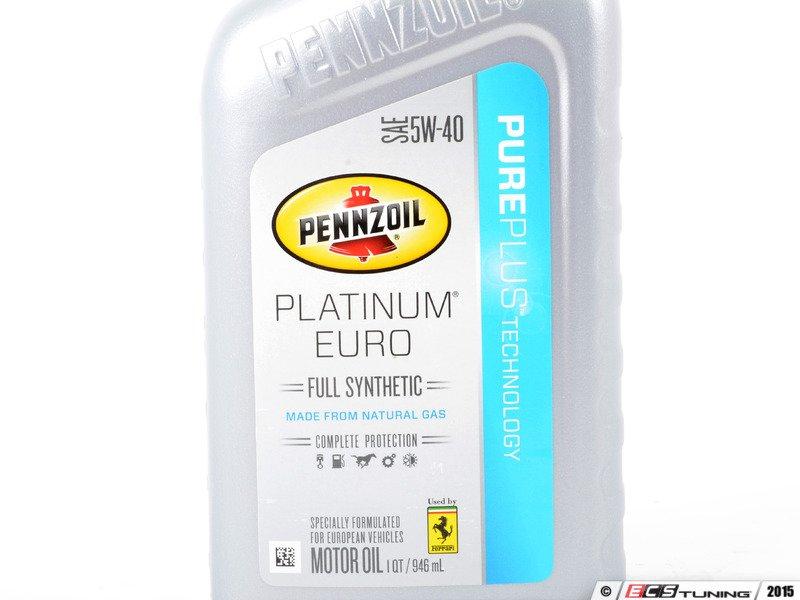 Pennzoil 5w40kt pennzoil platinum euro 5w 40 oil one for Pennzoil platinum full synthetic motor oil review