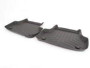 ES#2837705 - 444962 - Rear FloorLiner DigitalFit - black - Laser measured for perfect fitment and ultimate protection against moisture and debris - WeatherTech - Audi Volkswagen