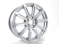 "ES#2607113 - 8P0601025DR - 17"" 10-Arm Design Wheel - Priced Each - 17""x7.5"" ET56 5x112 Silver - Genuine Volkswagen Audi - Audi"