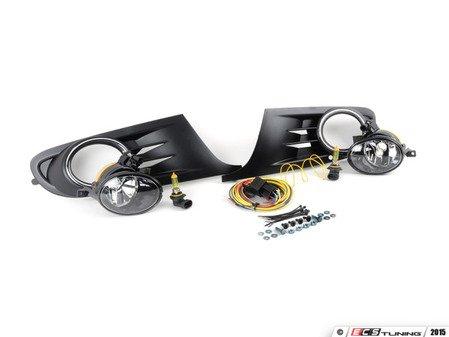 ES#2952241 - 1K0998022YKT - Fog Light Conversion Kit - Yellow Light - Complete kit to install fog lights on your MK6 Golf or Jetta SportWagen - Assembled By ECS - Volkswagen