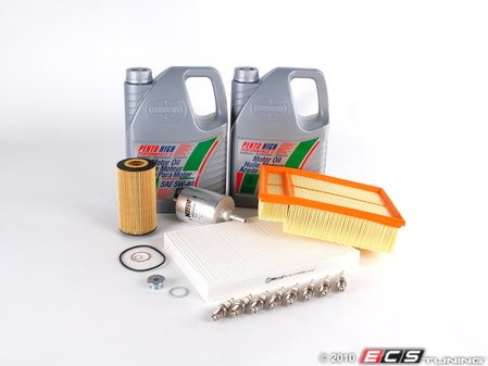 ES#261280 - B6B7S440K25-40 - 40k Service Kit - 5W-40 Synthetic Oil - Includes everything you need to complete the factory 40k service - Assembled By ECS - Audi