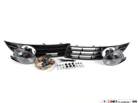 ES#2730702 - 3C0998004KT - Projector Fog Light Kit - For customers looking to add fog lamps to their Passat - includes bulbs - Assembled By ECS - Volkswagen