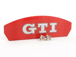 ES#2807624 - 5G0698221 - GTI Caliper Repair Kit - priced each - GTI emblem badge with 2 clamping sleeves - Genuine Volkswagen Audi - Volkswagen
