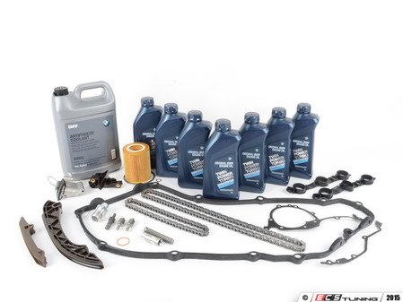 ES#2597204 - 11311432176KT5 - Timing Chain Kit - Everything you need to get the job done, including coolant, oil and filter - Assembled By ECS - BMW