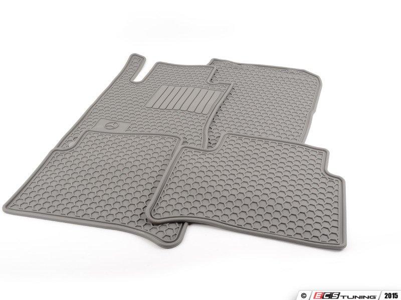 Genuine mercedes benz q6680685 rubber floor mats set for Mercedes benz floor mats