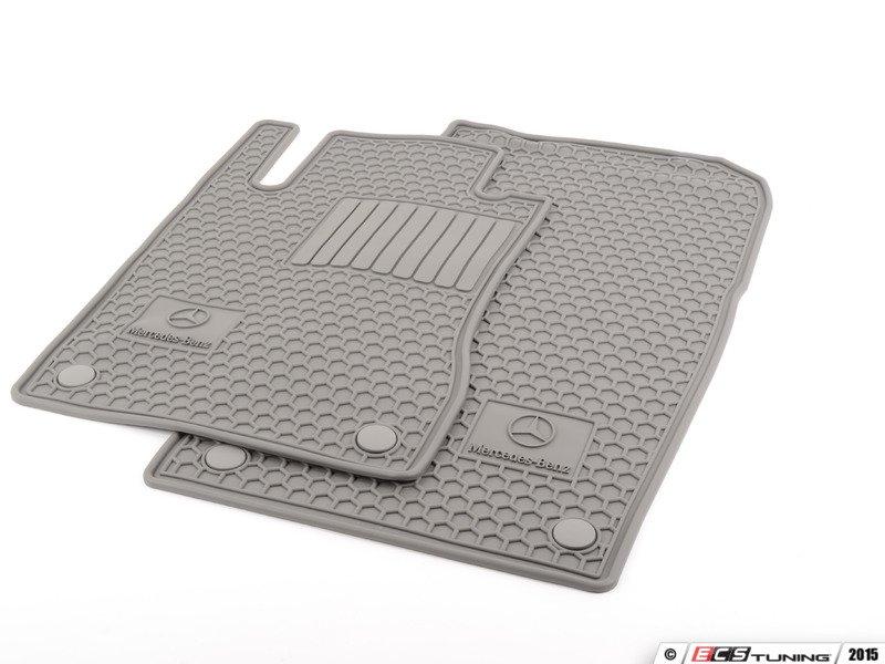 Genuine mercedes benz q6680685 rubber floor mats set for Floor mats for mercedes benz