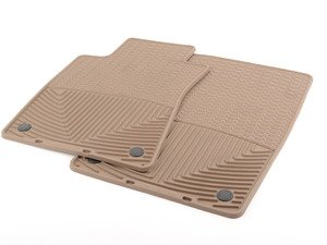 ES#2194927 - W37TN - Front All-Weather Floor Mats - Tan - All-weather protection to endure the harshest conditions - WeatherTech - Mercedes Benz